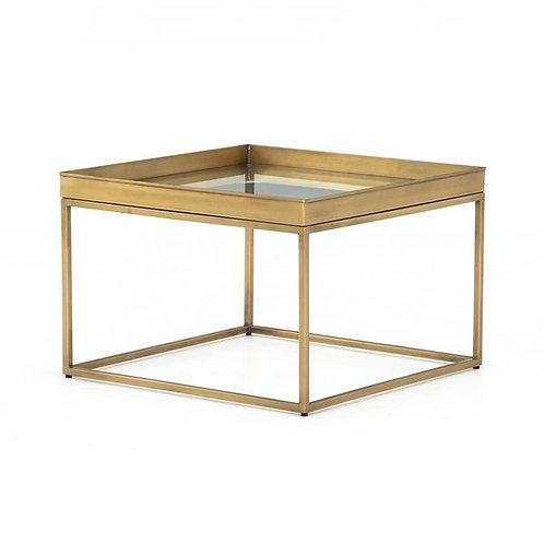 Kline Bunching Table, Antique Brass