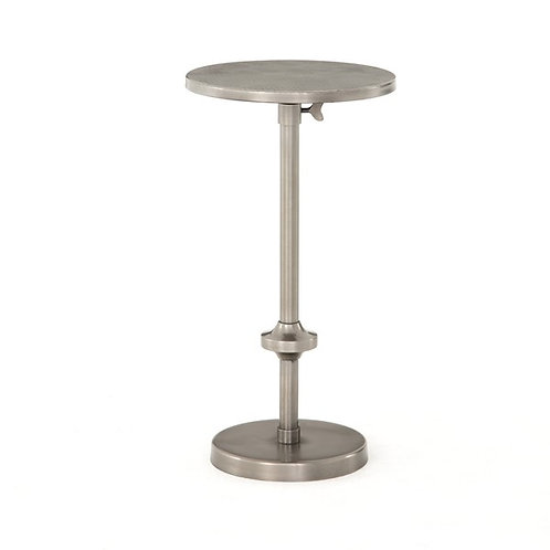 Eileen Adjustable Accent Table-Pewter