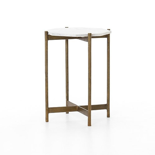 Adair Brass Side Table-Raw