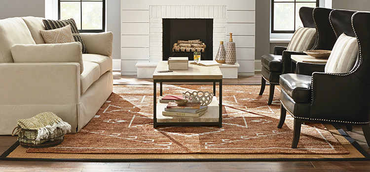 Correct placement of a rug.
