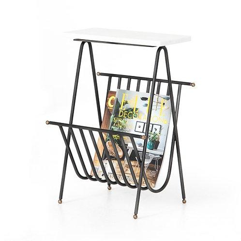 Bromley Magazine End Table-White