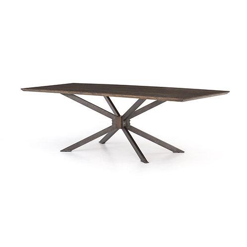 "Spider Dining Table-94""-English Brawn Oak"