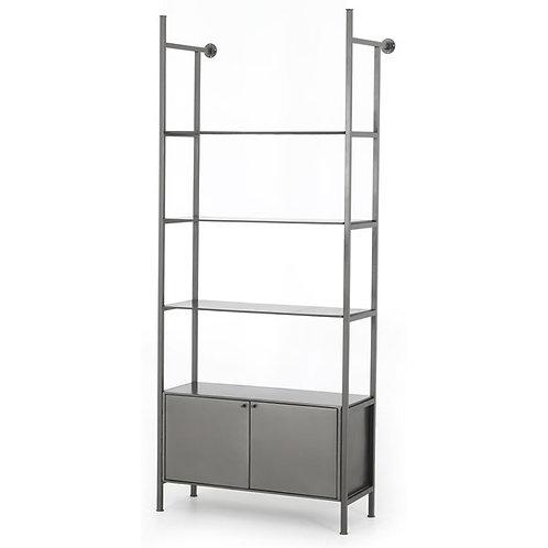 Enloe Modular 2 Door Bookshelf-Gunmetal