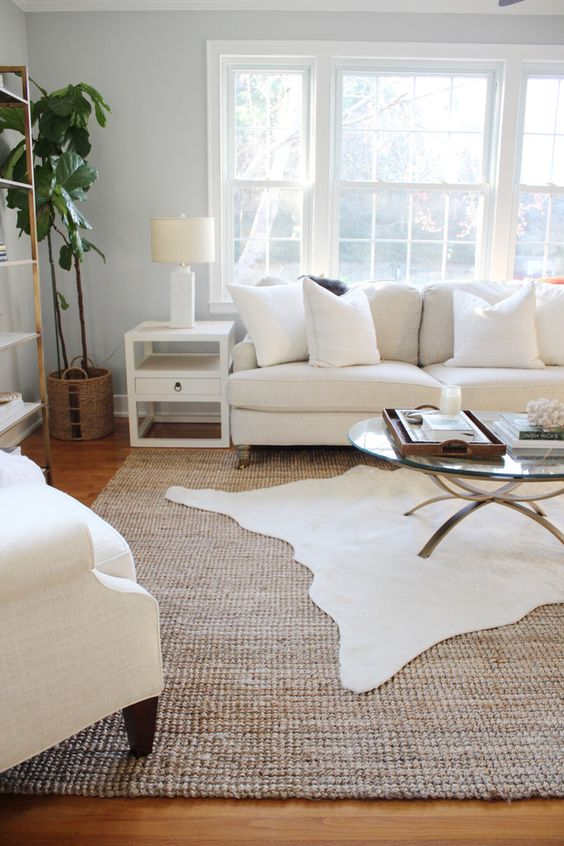 Layering rugs