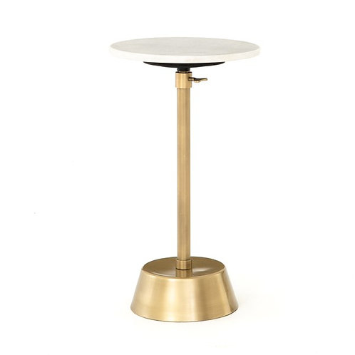 Bree Adjustable Accent Table-Brass