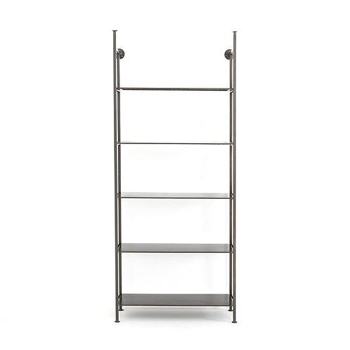 Enloe Single Modular Bookshelf, Gunmetal