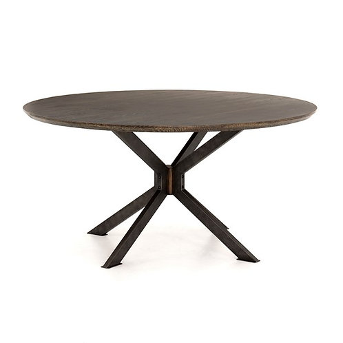 "Spider Round Dining Table-60""-English Br"