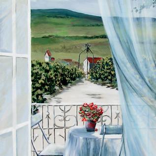 fresque sur le thème de la vigne