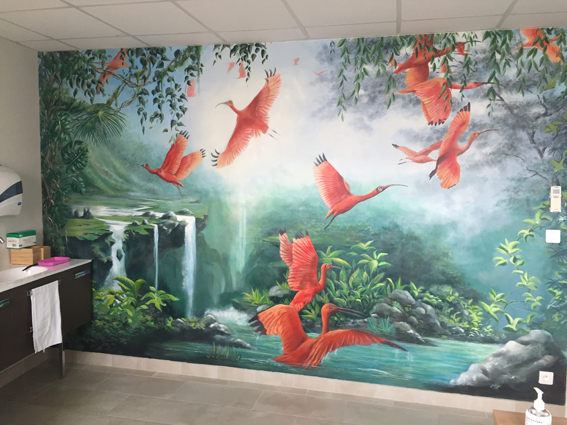 Fresque murale Cabinet de podologie Tai
