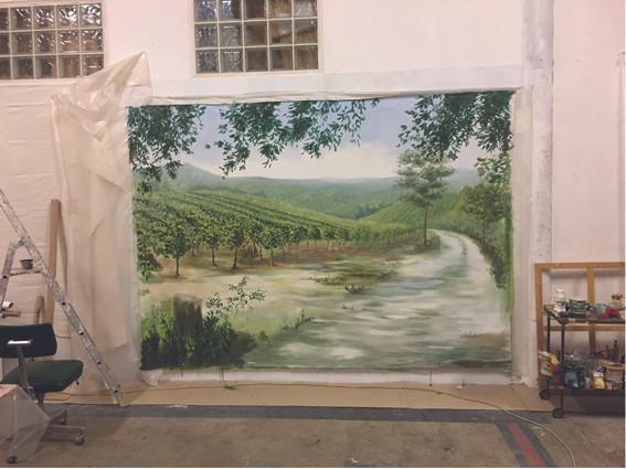 Grande toile en finition pour le salon V