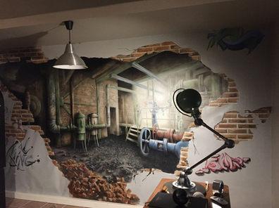 1 Fresque murale Bureau d'entreprise Bet