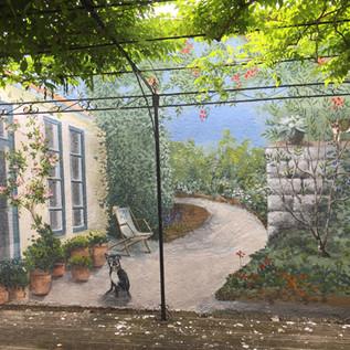 Fresque patio Résidence privée Reims