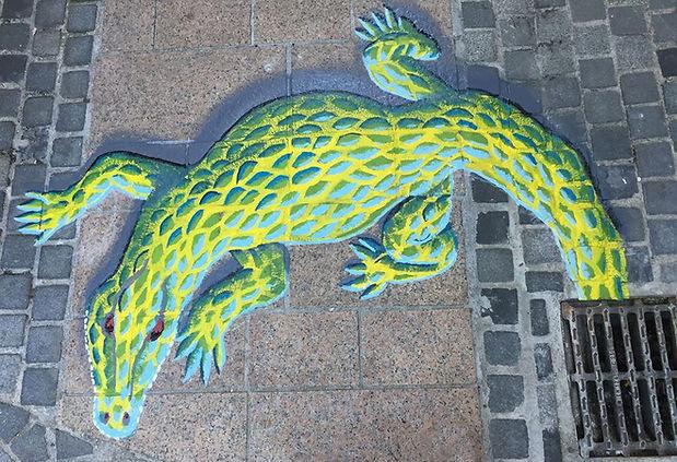 Street Art Chalons en Champagne, crocodi