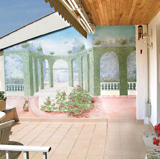 Fresque extérieure terrasse