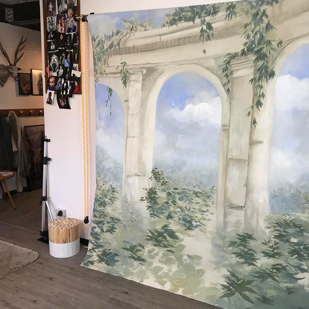 Fresque sur toile Studio photo Reims.