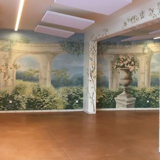 Fresque Salle de mariage Maison de champagne