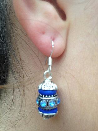 Boucles oreilles bleues