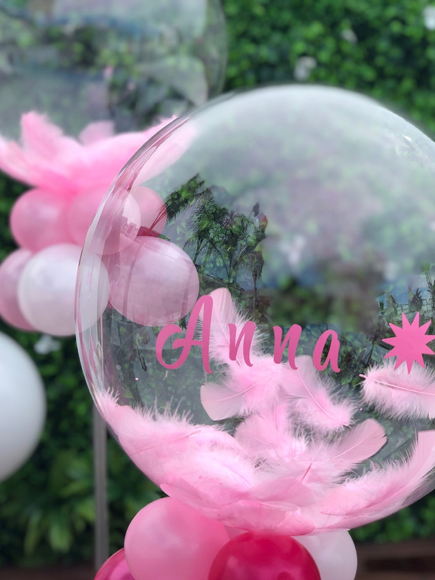 Aqua ballon + plume