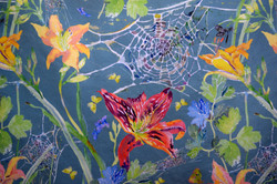 daylilies & spiderwebs