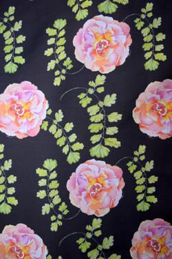 pink roses & maidenhair fern