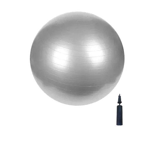 Swiss Ball - 85cm - Silver Grey with Pump