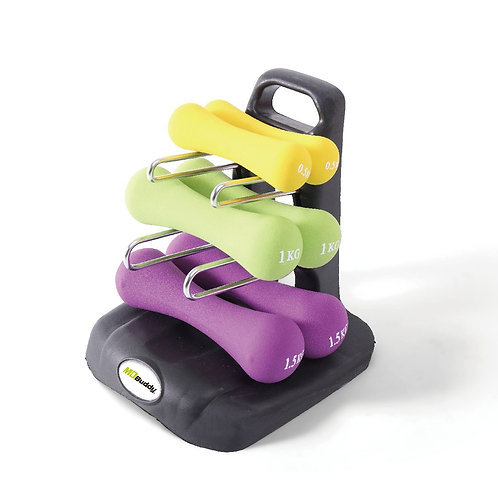 Dumbbell Stand With Pair of 0.5kg, 1kg, 1.5kg