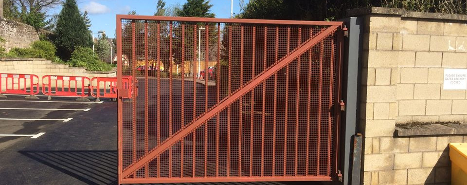 This is a site gate we supplied for a customer in the Scottish borders, we can arrange to deliver and have your site metalwork fitted anywhere across the UK