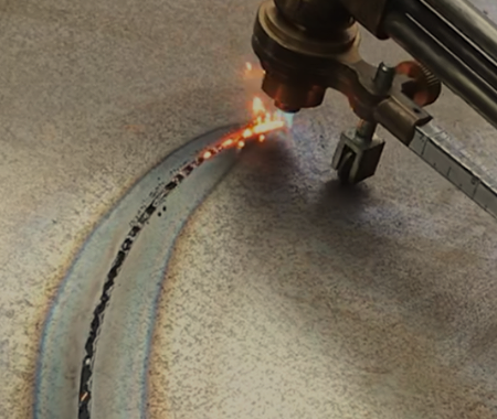 Metal cutting / burning services with oxy-acetylene