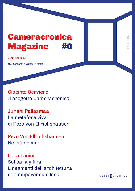 CAMERACRONICA #00 (printed)