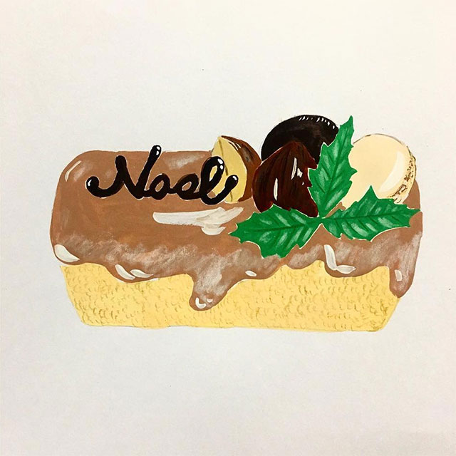 小布施栗のロールケーキ