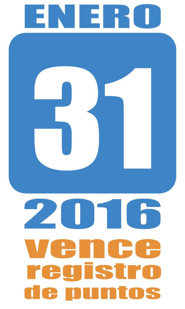 Registro de puntos 2016