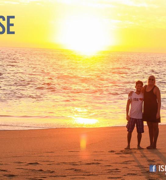 Hidden beach with ISE Family