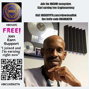 Man promoting the HBCU(R) community