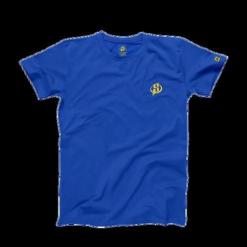 T-Shirt Skyrroz - Royal Blue brodé.