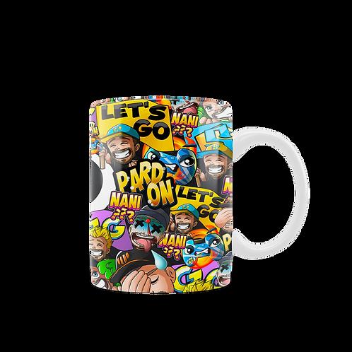 """Mug """"Emotes"""" (Intérieur noir)"""