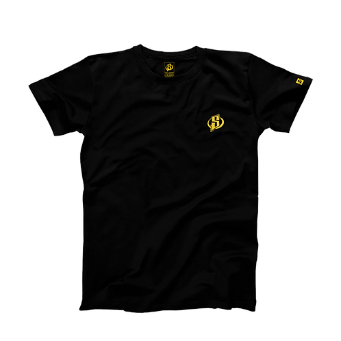 T-Shirt Skyrroz - Classic Black brodé.