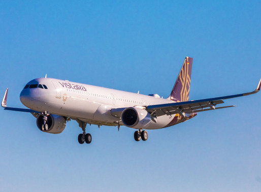 Vistara Receives First of Six Airbus A321neos on Order Featuring Flat-Bed Business Class