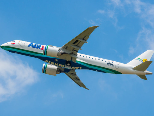 Air Kiribati Receives First of Two Embraer E190-E2s on Firm Order