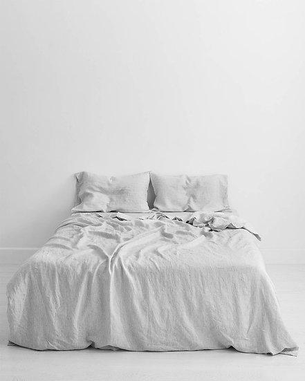 Pinstripe 100% Flax Linen Bedding Set