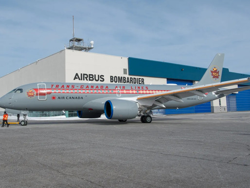 Air Canada to Fly Airbus A220-300 With Legacy TCA Livery Across North America