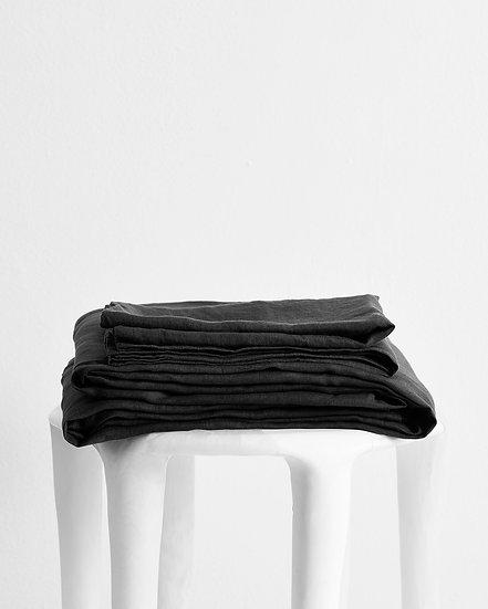 Charcoal 100% Flax Linen Sheet Set