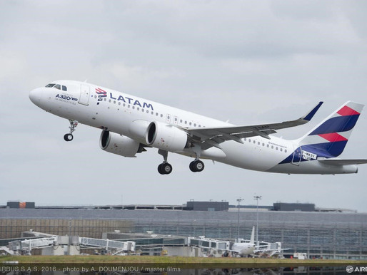LATAM Airlines to Upgrade A320 Family Aircraft With Airbus' Descent Profile Optimization Feature