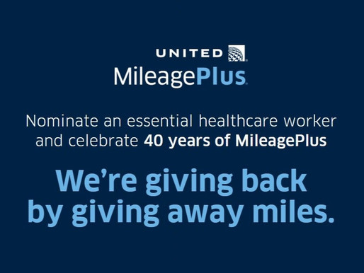United MileagePlus Celebrates 40 Years by Awarding Millions of Miles to Healthcare Workers