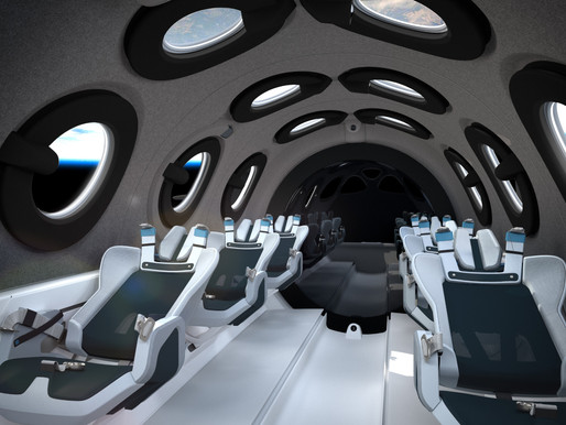 Virgin Galactic Reveals Passenger Cabin Design for SpaceShip Two Unity