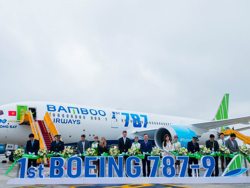 Bamboo Airways Celebrates Delivery of First Boeing 787-9 Dreamliner