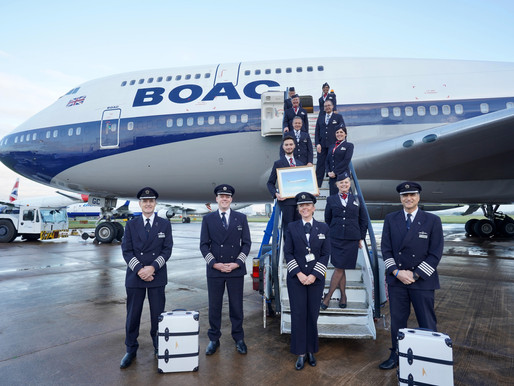 British Airways Auctions Bespoke BOAC-747 Inspired Suitcases for Flying Start Global Charity