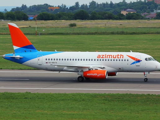 Azimuth Airlines Launches Service Between Krasnodar and Pskov With an Intermediate Stop in Moscow