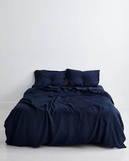 Ink 100% Flax Linen Bedding Set