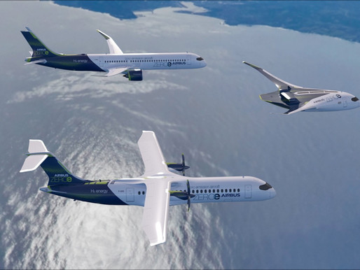 Airbus Unveils Three New Zero-Emission Hydrogen Powered Concept Aircraft
