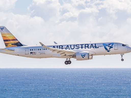 Air Austral's First Airbus A220-300 Powered by Pratt & Whitney GTF Engines Enters Service